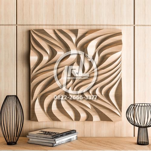 Hiasan/ Panel Dinding Kayu Motif Abstrak